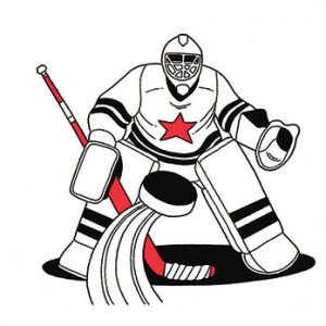 illustration of hockey goalie