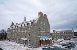 Colgate's new residence halls under construction
