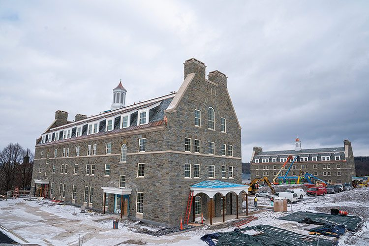 Colgate's new residence halls under construction