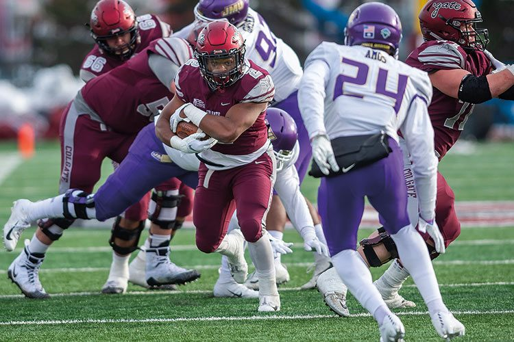 Colgate football in action against James Madison