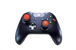 Xbox controller with JoyTops attached