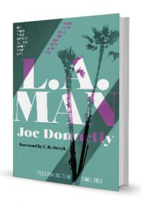 "Cover art of Donnelly's book, ""LA Man"""