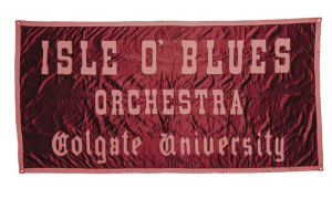 Fabric banner for Isle of Blues Orchestra