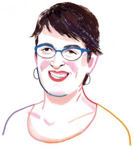 illustration of Marianne Janack