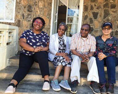 Diane Ciccone, Kali McMillan, Professor Harvey Sindima and his wife Gertrude