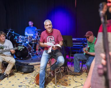 Anxiety stew band in rehearsal