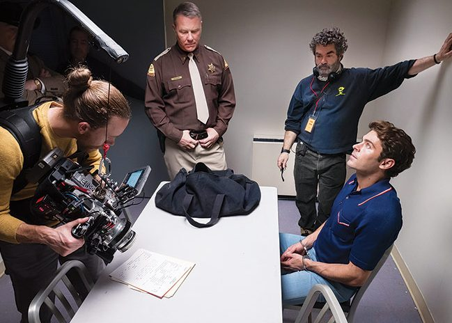 Joe Berlinger and actors on set of his new movie