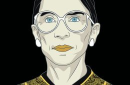 Ruth Bader Ginsburg illustration