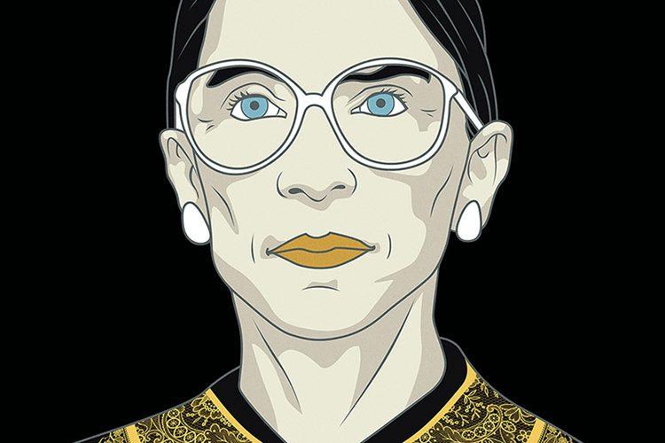 Ruth Bader Ginsburg illustration