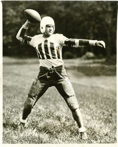 Vintage photo of Colgate football player in uniform