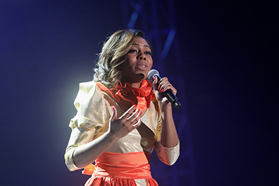 Jazmyn McCoy '17 performing