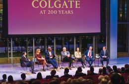 "CPN panel with ""Colgate at 200 Years"" banner"