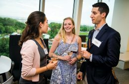 Students and alumni chat at CPN event