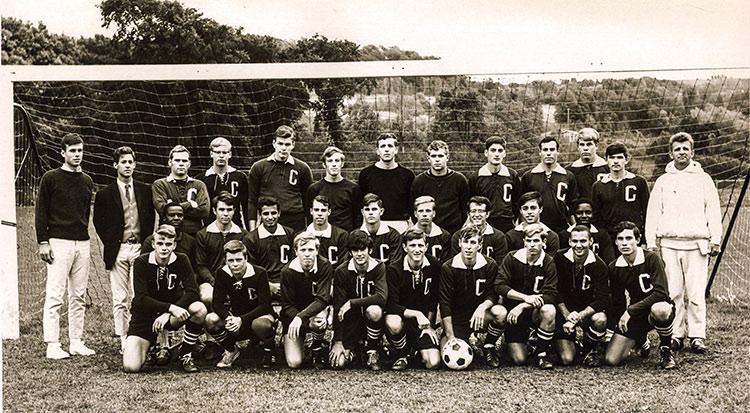 sepia toned photo of 68 men's soccer team