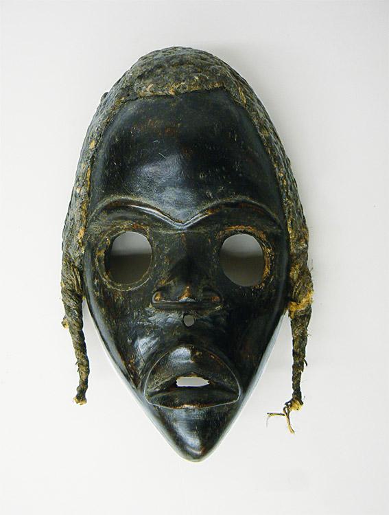 Black wooden mask