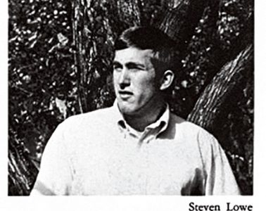 black and white pgoto of young Stephen Lowe