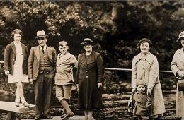 Old Photo of family in front of river