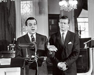 black and white photo of Jerome Wilson speaking