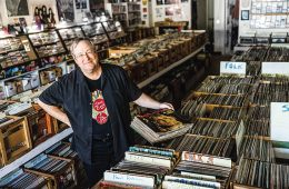 Lin brehmer in record store