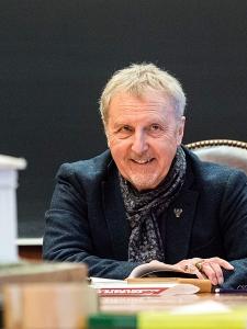 Robert Garland in a classroom