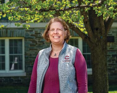 Dr. Ellen Larson photographed on campus