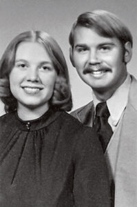 Black and white portrait of a young couple