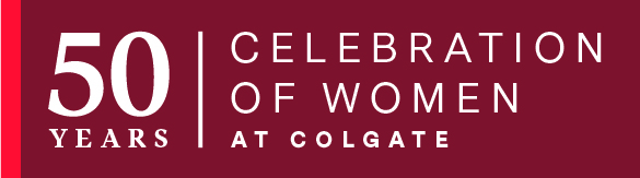 50 years celebration of women at colgate