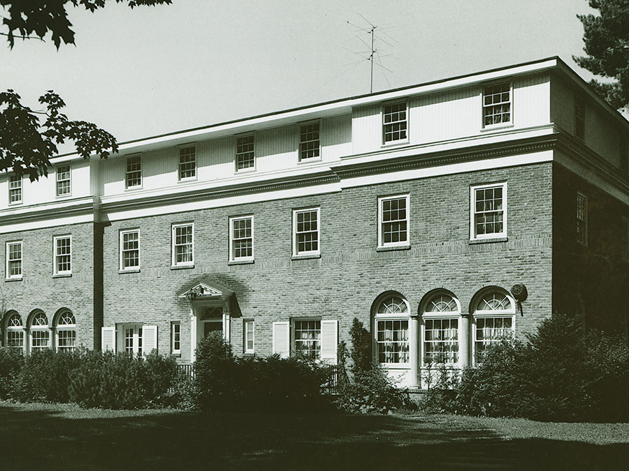 an archival photo of Bolton House in 1976
