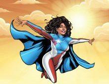 Superheroine La Borinqueña, created by Edgardo Miranda-Rodriguez '93