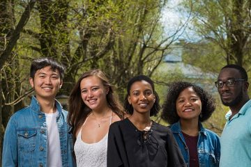 Group of 5 international students