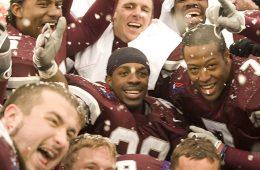 Jordan Scott with football teammates 11/22/08