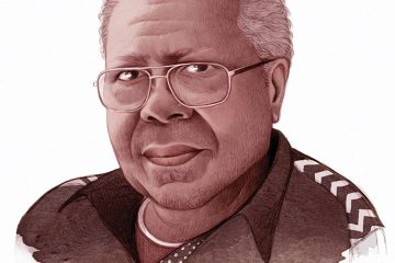 Illustrated portrait of Frank Morris