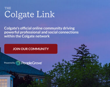 screen shot from Colgate Link Webpage