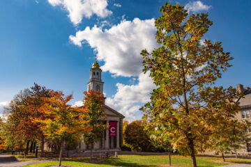 Colgate Memorial Chapel in autumn
