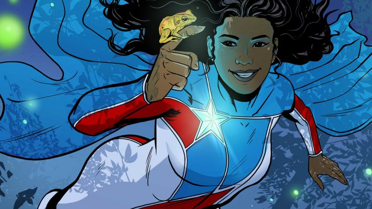 La Borinqueña flies through the trees