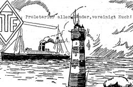 sketch of ships at sea near lighthouse