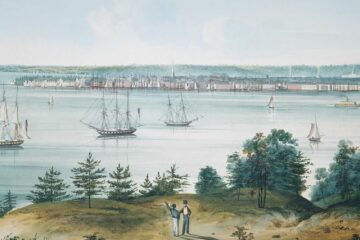 The Bay of New York taken from Brooklyn Heights (ca. 1820) by William Guy Wall. The Edward W. C. Arnold Collection of New York Prints, Maps, and Pictures, Bequest of Edward W. C. Arnold, 1954. The Metropolitan Museum of Art, New York.