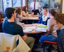 Professor Nady Abdal-Ghaffar teaching in the Keck Center