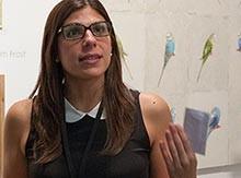 Cristina Salmastrelli '05 at an exhibition