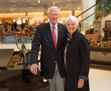 Charles '52 and Nancy von Maur at the new von Maur location in Victor, New York