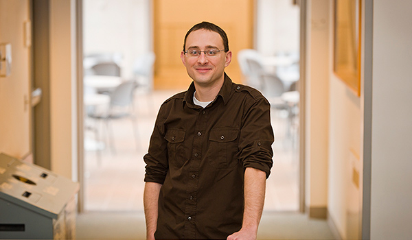 Chad Sparber poses for a faculty portrait.