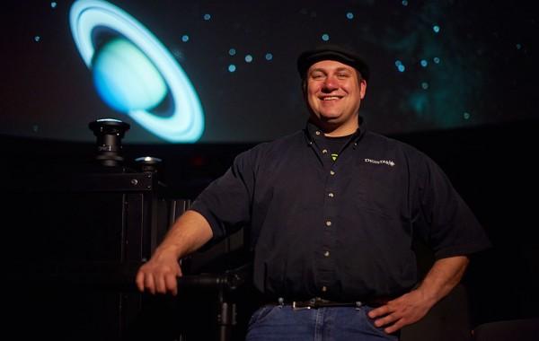 Joe Eakin in the Visualization Lab