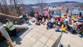 Class in session on the Persson steps