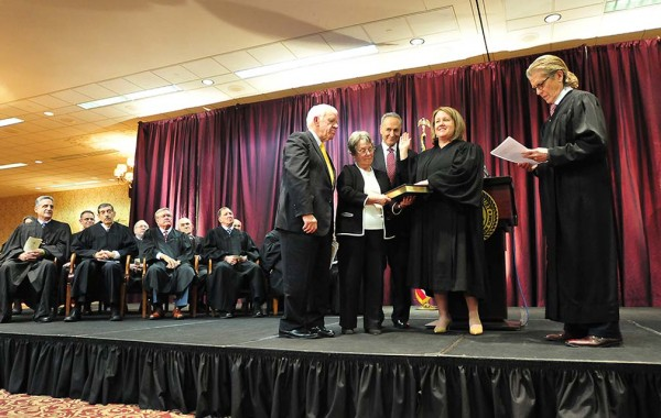 Judge Elizabeth Wolford is formally sworn in