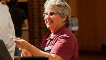 Jean Brooks at Frank Dining Hall