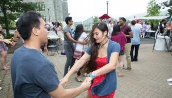 Students dance to jazz music at ALANAPalooza 2014