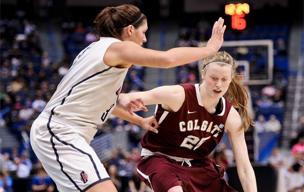 Josie Stockill '16 in action  at University of Connecticut Arena.