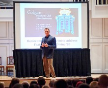 Mark Divine speaks at Homecoming 2014