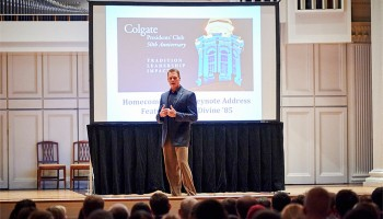 Mark Divine speaks at Homecoming 2014