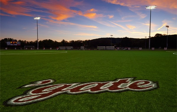 Sunset over Beyer-Small '76 athletic facility.